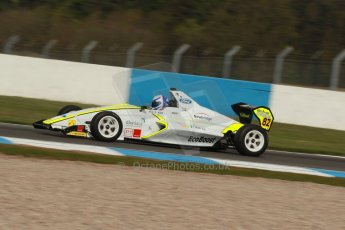 World © Octane Photographic Ltd. Donington Park test, Thursday 17th April 2014. Dunlop MSA Formula Ford Championship of Great Britain. Meridian Motorsport - Connor Mills - Mygale M12-SJ/Scholar. Digital Ref : 0905lb1d0176