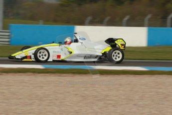 World © Octane Photographic Ltd. Donington Park test, Thursday 17th April 2014. Dunlop MSA Formula Ford Championship of Great Britain. Meridian Motorsport - Ashley Bobby Thompson - Mygale M12-SJ/Scholar. Digital Ref : 0905lb1d0216