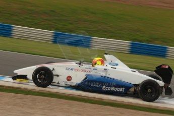 World © Octane Photographic Ltd. Donington Park test, Thursday 17th April 2014. Dunlop MSA Formula Ford Championship of Great Britain. SWB - Greg Holloway – Sinter LA12/Scholar. Digital Ref : 0905lb1d0326