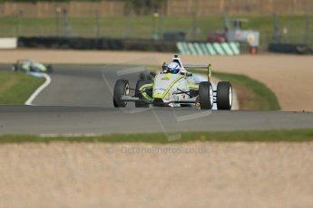 World © Octane Photographic Ltd. Donington Park test, Thursday 17th April 2014. Dunlop MSA Formula Ford Championship of Great Britain. Meridian Motorsport - Connor Mills - Mygale M12-SJ/Scholar. Digital Ref : 0905lb1d4205