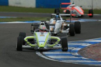 World © Octane Photographic Ltd. Donington Park test, Thursday 17th April 2014. Dunlop MSA Formula Ford Championship of Great Britain. Meridian Motorsport - Ashley Bobby Thompson - Mygale M12-SJ/Scholar. Digital Ref : 0905lb1d4890