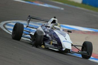 World © Octane Photographic Ltd. Donington Park test, Thursday 17th April 2014. Dunlop MSA Formula Ford Championship of Great Britain. JTR - Sam Brabham - Mygale M12-SJ/Mountune. Digital Ref : 0905lb1d4990