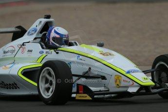 World © Octane Photographic Ltd. Donington Park test, Thursday 17th April 2014. Dunlop MSA Formula Ford Championship of Great Britain. Meridian Motorsport - Connor Mills - Mygale M12-SJ/Scholar. Digital Ref : 0905lb1d5161