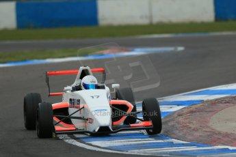 World © Octane Photographic Ltd. Donington Park test, Thursday 17th April 2014. Dunlop MSA Formula Ford Championship of Great Britain. SWB - James Webb – Sinter LA12/Scholar. Digital Ref : 0905lb1d5241