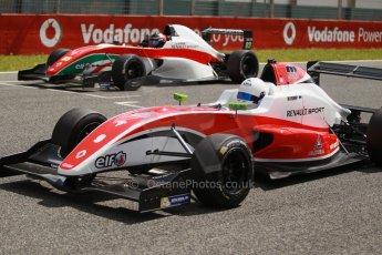 World © Octane Photographic Ltd. Eurocup Formula Renault 2.0 Championship testing. Jerez de la Frontera, Thursday 27th March 2014. Fortec Motorsports – Martin Rump and Prema Powerteam – Alex Bosak. Digital Ref :  0900cb1d8112
