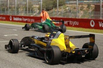 World © Octane Photographic Ltd. Eurocup Formula Renault 2.0 Championship testing. Jerez de la Frontera, Thursday 27th March 2014. Arta Engineering – Darius Oskoui and Fortec Motorsports – Matt (Matthew) Parry. Digital Ref :  0900cb1d8138