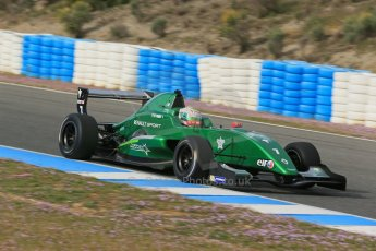 World © Octane Photographic Ltd. Eurocup Formula Renault 2.0 Championship testing. Jerez de la Frontera, Thursday 27th March 2014. Fortec Motorsports – Matt (Matthew) Parry. Digital Ref :  0900lb1d0695