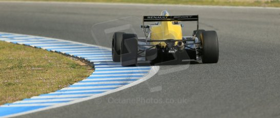 World © Octane Photographic Ltd. Eurocup Formula Renault 2.0 Championship testing. Jerez de la Frontera, Thursday 27th March 2014. Josef Kaufmann Racing – Gistav Malja. Digital Ref :  0900lb1d1002