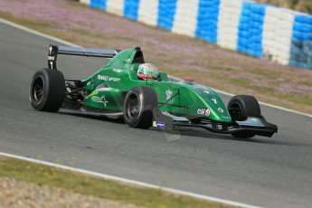 World © Octane Photographic Ltd. Eurocup Formula Renault 2.0 Championship testing. Jerez de la Frontera, Thursday 27th March 2014. Fortec Motorsports – Matt (Matthew) Parry. Digital Ref :  0900lb1d1379