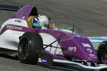 World © Octane Photographic Ltd. Eurocup Formula Renault 2.0 Championship testing. Jerez de la Frontera, Thursday 27th March 2014. China BRT by JCS – Matheo Tuscher. Digital Ref :  0900lb1d1747