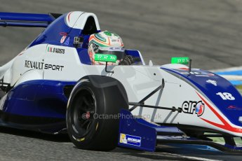 World © Octane Photographic Ltd. Eurocup Formula Renault 2.0 Championship testing. Jerez de la Frontera, Thursday 27th March 2014. Koiranen GP – Ignazia D'Agosto. Digital Ref :  0900lb1d1830