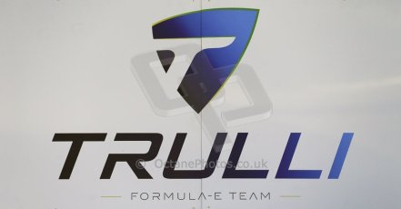 World © Octane Photographic Ltd. FIA Formula E testing Donington Park 10th July 2014. Trulli Formula E team logo. Digital Ref : 1032CB1D3264