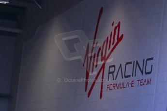 World © Octane Photographic Ltd. FIA Formula E testing Donington Park 10th July 2014. Virgin Racing logo. Digital Ref : 1032CB1D3283