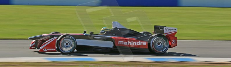 World © Octane Photographic Ltd. FIA Formula E testing Donington Park 10th July 2014. Mahindra Racing - Bruno Senna. Digital Ref : 1032CB1D3493