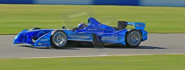 World © Octane Photographic Ltd. FIA Formula E testing Donington Park 10th July 2014. Spark-Renault SRT_01E. Amlin Aguri - Katherine Legge. Digital Ref : 1032CB1D3521