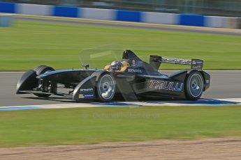 World © Octane Photographic Ltd. FIA Formula E testing Donington Park 10th July 2014. Spark-Renault SRT_01E. TrulliGP - Jarno Trulli. Digital Ref : 1032CB1D3563
