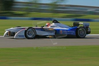 World © Octane Photographic Ltd. FIA Formula E testing Donington Park 10th July 2014. Spark-Renault SRT_01E. Andretti Autosport – Scott Speed. Digital Ref : 1032CB1D3596