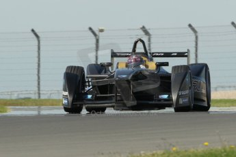World © Octane Photographic Ltd. FIA Formula E testing Donington Park 10th July 2014. Spark-Renault SRT_01E. TrulliGP – Michela Cerruti. Digital Ref : 1032CB1D4194