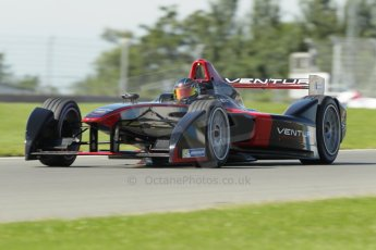 World © Octane Photographic Ltd. FIA Formula E testing Donington Park 10th July 2014. Spark-Renault SRT_01E. Venturi - Nick Heidfeld. Digital Ref : 1032CB1D4279