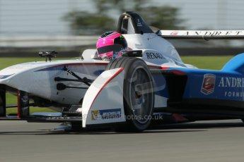 World © Octane Photographic Ltd. FIA Formula E testing Donington Park 10th July 2014. Spark-Renault SRT_01E. Andretti Autosport - Franck Montagny. Digital Ref : 1032CB1D4282