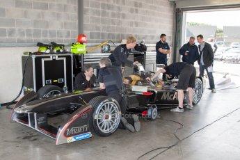 World © MountersPhotography/OctanePhotos.co.uk. FIA Formula E testing Donington Park 9th July 2014. Spark-Renault SRT_01E. Dragon Racing - Oriol Servia. Digital Ref : 1031JM1D0028