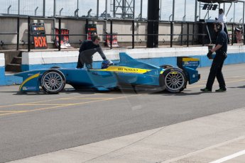 World © MountersPhotography/OctanePhotos.co.uk. FIA Formula E testing Donington Park 9th July 2014. Spark-Renault SRT_01E. e.dams-Renault – Nicolas Prost.  Digital Ref : 1031JM1D0031