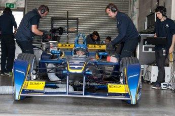 World © MountersPhotography/OctanePhotos.co.uk. FIA Formula E testing Donington Park 9th July 2014. Spark-Renault SRT_01E. e.dams-Renault – Nicolas Prost. Digital Ref : 1031JM1D0036