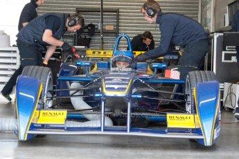 World © MountersPhotography/OctanePhotos.co.uk. FIA Formula E testing Donington Park 9th July 2014. Spark-Renault SRT_01E. e.dams-Renault – Nicolas Prost. Digital Ref : 1031JM1D0037