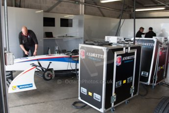 World © MountersPhotography/OctanePhotos.co.uk. FIA Formula E testing Donington Park 9th July 2014. Spark-Renault SRT_01E. Andretti Autosport - Franck Montagny. Digital Ref : 1031JM1D0325