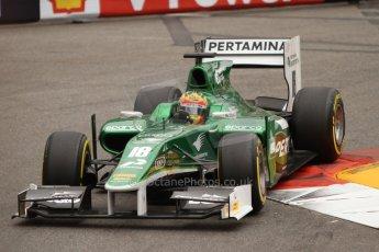 World © Octane Photographic Ltd. Thursday 22nd May 2014. GP2 Practice – Monaco, Monte Carlo. Alexander Rossi - EQ8 Caterham Racing. Digital Ref : 0959CB7D2353