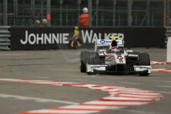 World © Octane Photographic Ltd. Thursday 22nd May 2014. GP2 Practice – Monaco, Monte Carlo. Simon Trummer - Rapax. Digital Ref : 0959LB1D4132