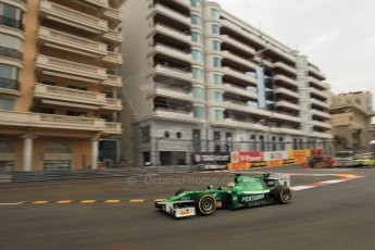 World © Octane Photographic Ltd. Thursday 22nd May 2014. GP2 Practice – Monaco, Monte Carlo. Rio Haryanto - EQ8 Caterham Racing. Digital Ref : 0959LB1D6484