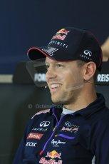 World © Octane Photographic Ltd. Thursday 17th July 2014. German GP, Hockenheim Formula 1 FIA Press Conference. Infiniti Red Bull Racing RB10 - Sebastian Vettel. Digital Ref: 1033LB1D4071