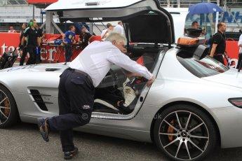 World © Octane Photographic Ltd. Sunday 20th July 2014. German GP, Hockenheim. - Formula 1 Pitlane. Mercedes Safty car (SLS AMG) with Herbie Blish. Digital Ref:
