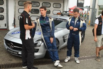 World © Octane Photographic Ltd. Sunday 20th July 2014. German GP, Hockenheim. - Formula 1 Pitlane. Mercedes Safty car (SLS AMG) with Dr.Ian Roberts and medical car driver Alan van der Merwe. Digital Ref: