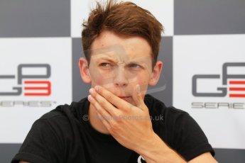 World © Octane Photographic Ltd. Saturday 19th July 2014. GP3 Qualifying Session press conference. German GP, Hockenheim. Nick Yelloly - Status Grand Prix (3rd). Digital Ref : 1041CB7D5352