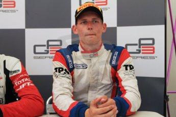 World © Octane Photographic Ltd. Saturday 19th July 2014. GP3 Race 1 press conference. German GP, Hockenheim. Emil Bernstorff - Carlin (3rd). Digital Ref : 1047CB7D6392