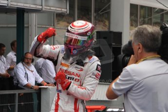 World © Octane Photographic Ltd. Sunday 20th July 2014. GP3 Race 2. German GP, Hockenheim. Jann Mardenborough celebrates his 1st GP3 win - Arden International. Digital Ref : 1049CB7D6493