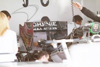 World © Octane Photographic Ltd. Saturday 19th July 2014. German GP, Hockenheim. - Formula 1 Qualifying. McLaren Mercedes MP4/29 rear wing detail. Digital Ref: