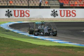 World © Octane Photographic Ltd. Saturday 19th July 2014. German GP, Hockenheim. - Formula 1 Qualifying. Mercedes AMG Petronas F1 W05 Hybrid - Nico Rosberg. Digital Ref: