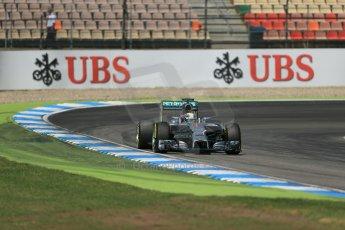 World © Octane Photographic Ltd. Saturday 19th July 2014. German GP, Hockenheim. - Formula 1 Qualifying. Mercedes AMG Petronas F1 W05 Hybrid – Lewis Hamilton. Digital Ref: