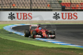 World © Octane Photographic Ltd. Saturday 19th July 2014. German GP, Hockenheim. - Formula 1 Qualifying. Scuderia Ferrari F14T - Fernando Alonso. Digital Ref: