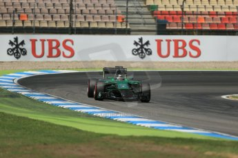 World © Octane Photographic Ltd. Saturday 19th July 2014. German GP, Hockenheim. - Formula 1 Qualifying. Caterham F1 Team CT05 – Kamui Kobayashi. Digital Ref: