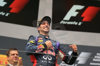 World © Octane Photographic Ltd. Sunday 27th July 2014. Hungarian GP, Hungaroring - Budapest. Podium. Infiniti Red Bull Racing RB10 – Daniel Ricciardo. Digital Ref: 1074LB1D4373