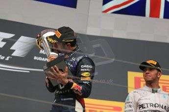 World © Octane Photographic Ltd. Sunday 27th July 2014. Hungarian GP, Hungaroring - Budapest. Podium. Infiniti Red Bull Racing RB10 – Daniel Ricciardo. Digital Ref: 1074LB1D4433