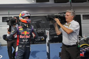 World © Octane Photographic Ltd. Sunday 27th July 2014. Hungarian GP, Hungaroring - Budapest. Podium. Infiniti Red Bull Racing RB10 – Daniel Ricciardo. Digital Ref: 1074LB1D5026