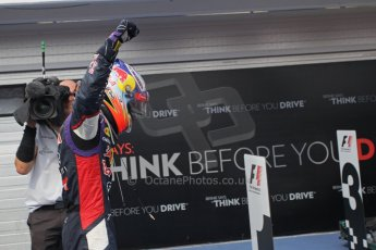 World © Octane Photographic Ltd. Sunday 27th July 2014. Hungarian GP, Hungaroring - Budapest. Podium. Infiniti Red Bull Racing RB10 – Daniel Ricciardo. Digital Ref: 1074LB1D5072