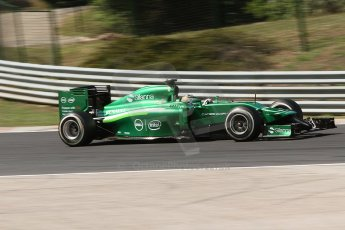 World © Octane Photographic Ltd. Friday 25th July 2014. Hungarian GP, Hungaroring - Budapest. - Formula 1 Practice 2. Caterham F1 Team CT05 – Kamui Kobayashi. Digital Ref: 1057CB7D6801
