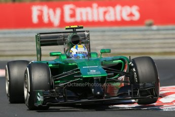 World © Octane Photographic Ltd. 2014 Friday 25th July 2014. Hungarian GP, Hungaroring - Budapest. Practice 2. Caterham F1 Team CT05 – Marcus Ericsson. Digital Ref: 1057LB1D0137