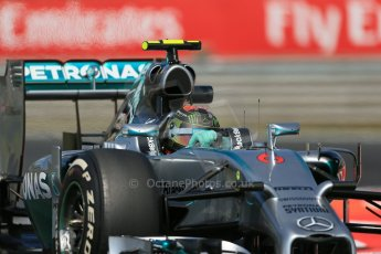 World © Octane Photographic Ltd. Friday 25th July 2014. Hungarian GP, Hungaroring - Budapest. - Formula 1 Practice 2. Mercedes AMG Petronas F1 W05 Hybrid - Nico Rosberg. Digital Ref: 1057LB1D0585